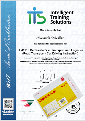 Printed Certificate - Express Post Delivery (1 to 2 Days)