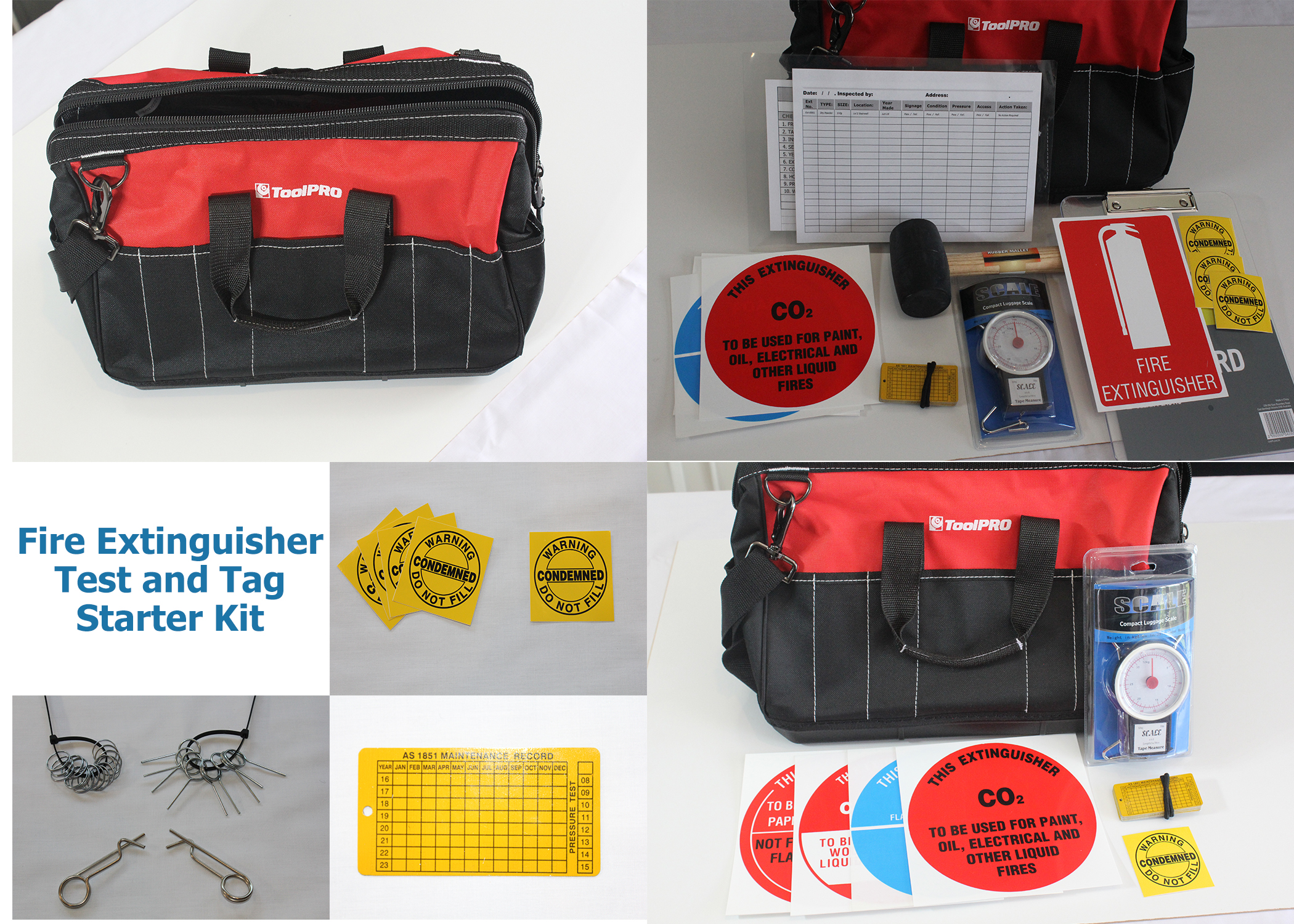 Test and Tag Fire Extinguisher and Fire Blankets - Starter Kit