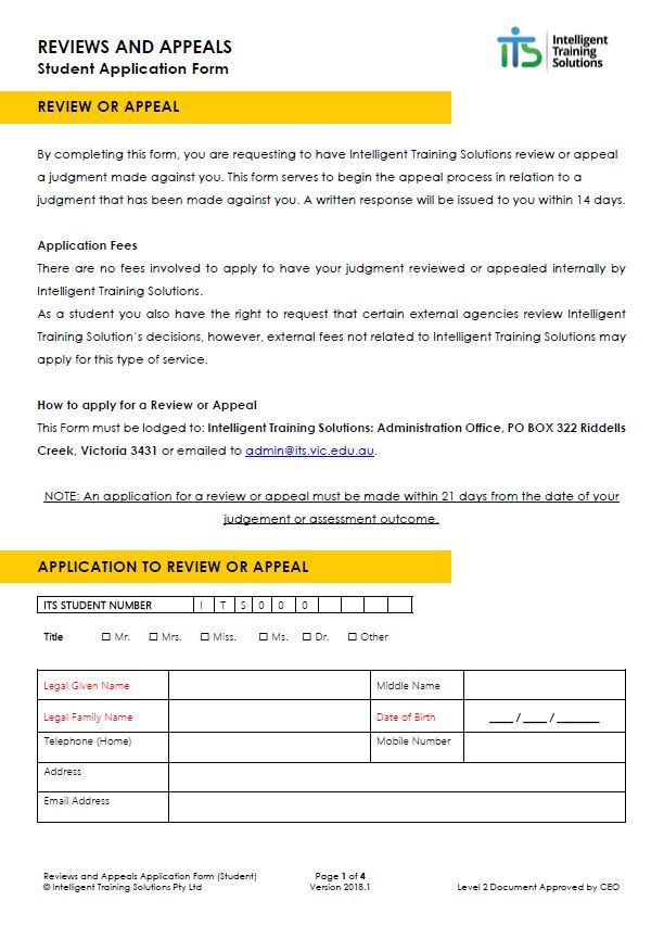 enrolment status letter request form